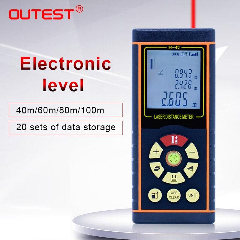 Rangefinders do Laser do Medidor Eletrônicos do Nível 40m da Distância do Laser de Outrest com Multímetros 100m 80m 60m