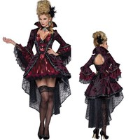 New Vampire Queen Witch Fancy Dress Cosplay Costumes Sexy Dresses For Women Female Halloween Party Gown Performance Uniform