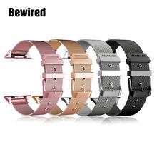 Ремешок из нержавеющей стали для Apple Watch Band 38 мм 42 мм, браслет для iWatch SE 6/5/4/3/2/1 40 мм 44 мм, браслет для наручных часов