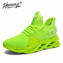 Hemmyi 2020 Hot New Men Sneakers Mesh Breathable Outdoor Walking Trend Fashion