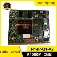 Quadro K1000M K1000 GDDR3 2GB scheda grafica Video con N14P-Q1-A2 x-staffa per HP 8560W 8570W 8770W Dell M4700 M4800 Test completo