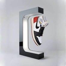 Magnético flutuante levitação sapato display caso máquina estilo de vida original decoração tênis armazenamento suspenso por atacado