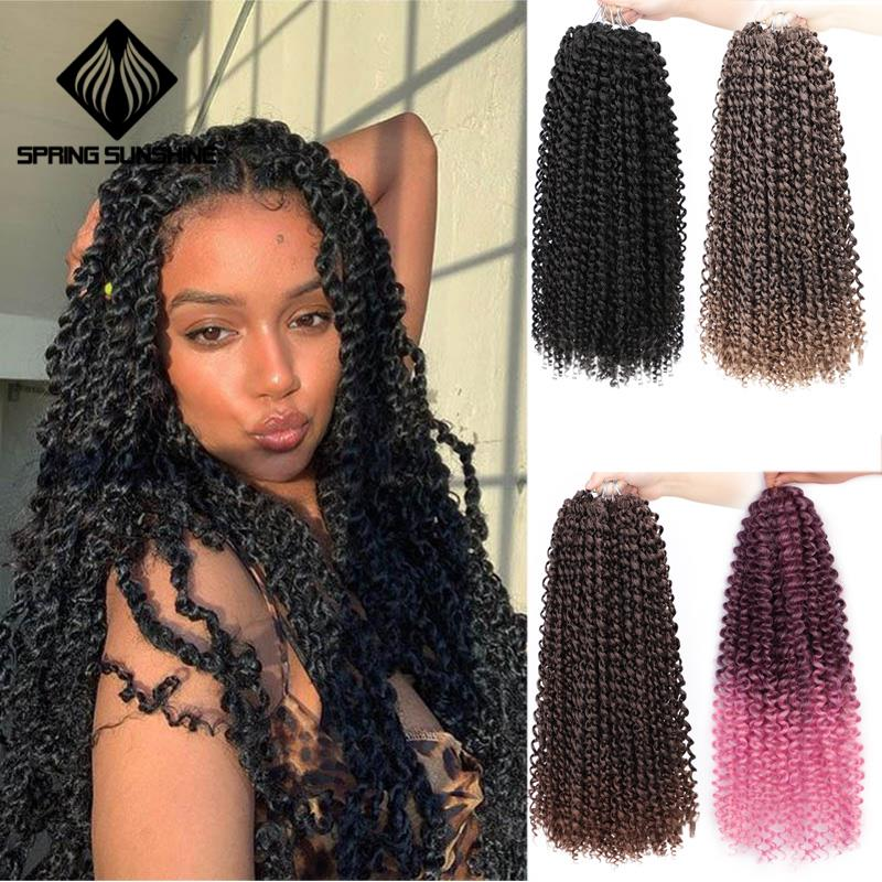 Hair-Extension Twist-Hair Braid Spring Passion Kinky-Twist Synthetic Ombre 22strands/Pack