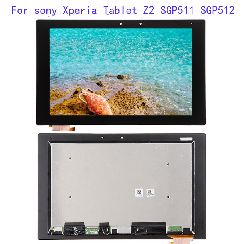 For <font><b>sony</b></font> Xperia Tablet Z2 SGP511 SGP512 SGP521 SGP541 Display Panel LCD Combo Touch Screen Glass Sensor Replacement Parts image