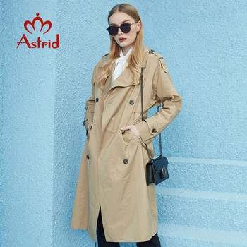 Astrid 2020 New Spring Autumn Trench Coat long Fashion Windproof  hood large size Outwear Windbreaker female clothing 7246 1