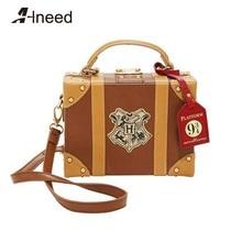 ALNEED Luxury Handbags Women Bags Designer Platform 3/4 Box Bag Lolita Top-Handle Female Shoulder Crossbody Clutches