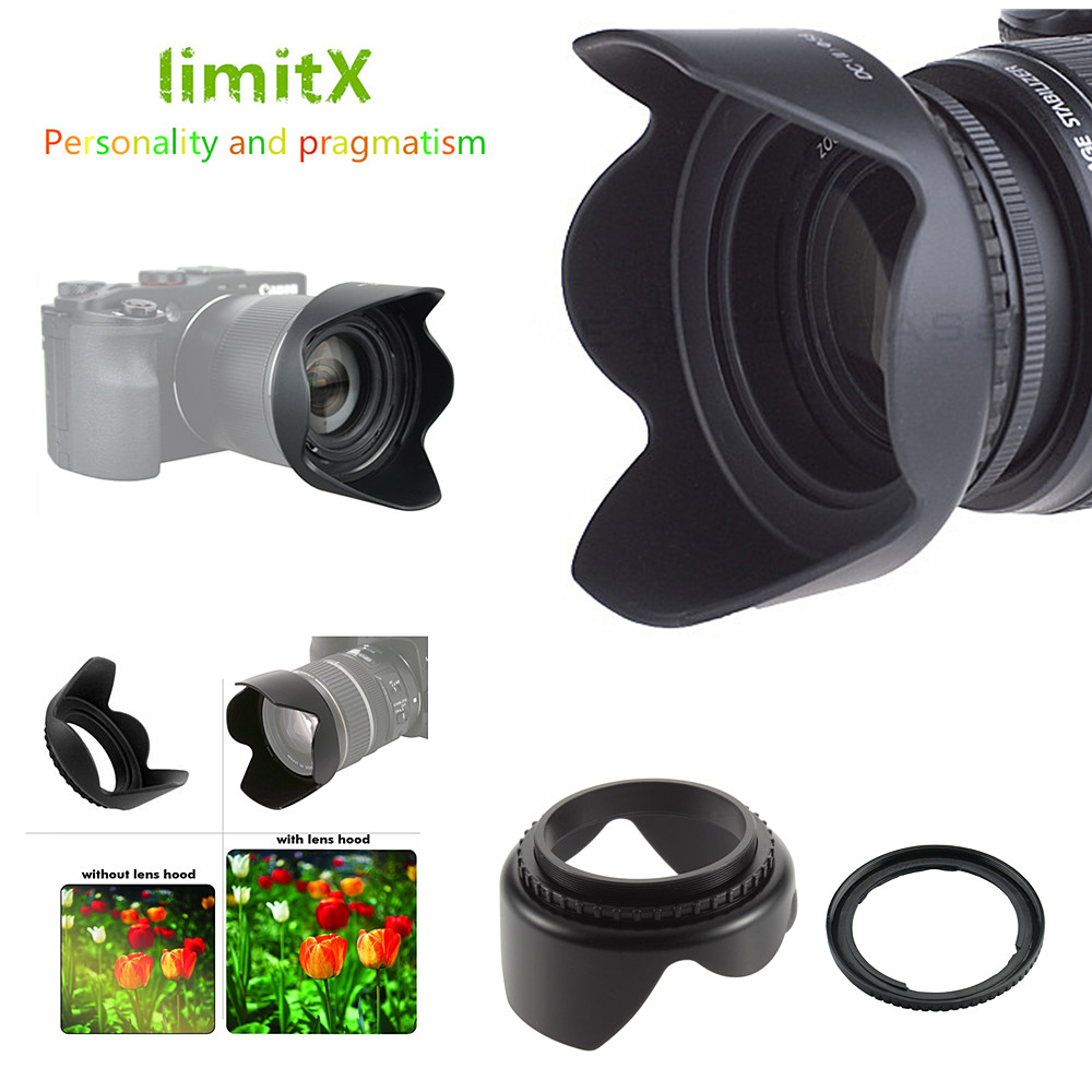 72mm 1Pcs 49mm 52mm 55mm 58mm 62mm 67mm 72mm 77mm 82mm Universal 3-Stage Collapsible Rubber Lens Hood