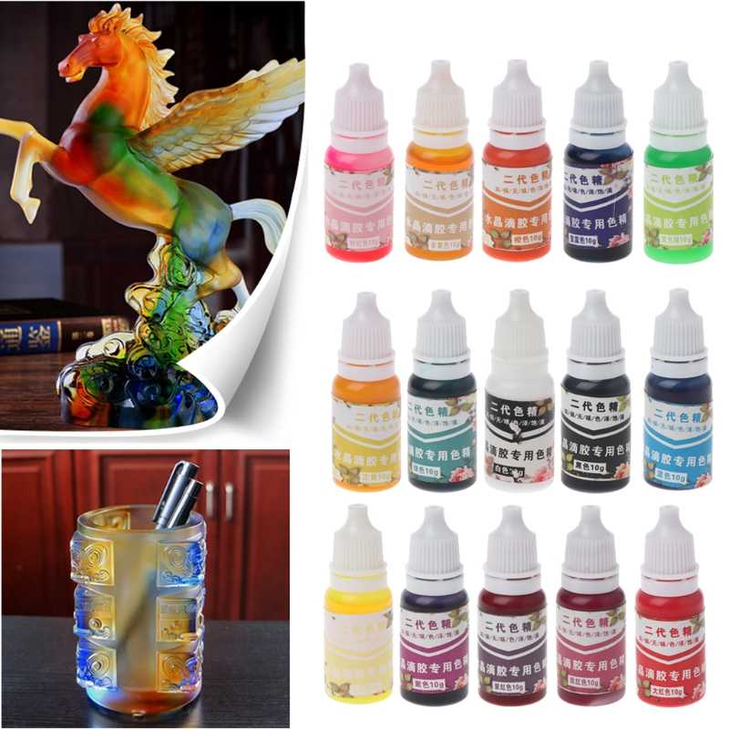 เรซิน UV Ultraviolet Curing Resin Liquid Pigment Dye Handmade Art CRAFT 15 สี 72XF