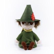 Autorização genuína de alta qualidade moomin 27 cm posição sentada snufkin pelúcia bonecas brinquedo pelúcia curto para o presente natal aniversário