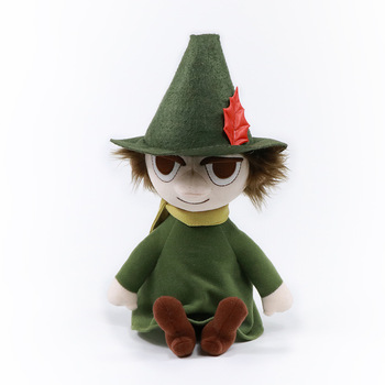 Genuine authorization high quality Moomin 27 cm Sitting position Snufkin plush dolls Short plush toy for Birthday Christmas gift moomin and the birthday button