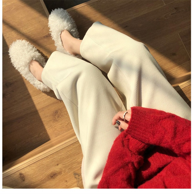 Elegant High Waist Corduroy Pants 3