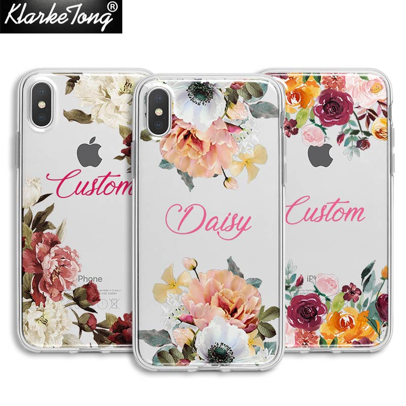 Фирменный цветочный чехол для телефона iPhone 11 XS MAX XR 8 7 6 Plus 5S мягкий прозрачный летний силиконовый чехол с узором