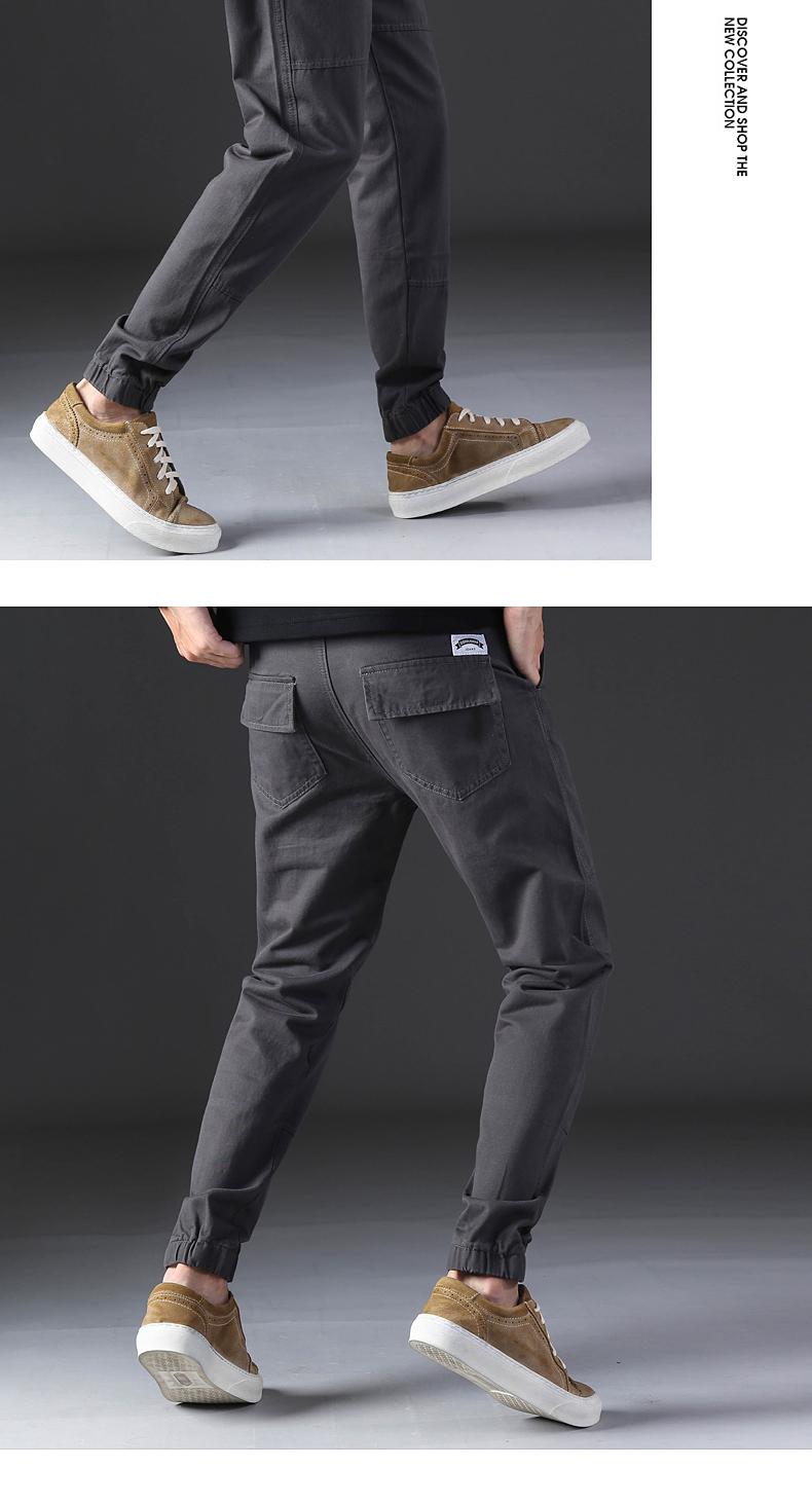 KSTUN Casual Mens Pants Slim Fit Casual Pants Sweatpants Joggers Solid Gray Khaki Men Trousers