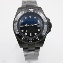 Top Quality Sea-Dweller 116660 44mm blue and Black Dial Ceramic Bezel Sapphire Asia 2813 Movement Automatic Mens Date Wrist Watc(China)