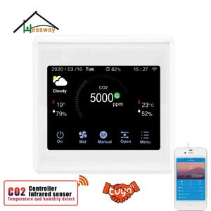 Image 1 - HESSWAY TUYA WIFI co2 air sensor 3 in1 Carbon Dioxide Temperature Humidity Detector for temp and humidity