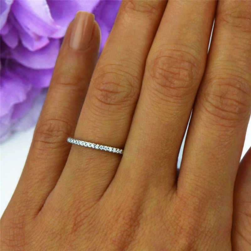 สไตล์เกาหลีผู้หญิง Zircon แหวนหินน่ารักสีเหลืองทองแหวนสัญญารักหมั้นแหวน