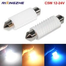 1pc 12-24v c5w led c10w canbus festoon 31/36/39/41mm erro livre de leitura interior lâmpada de placa automática lâmpadas de folga branco