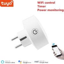 Commutateur de maison intelligente de prise sans fil de prise de WiFi de lue de Tuya compatible avec la maison de Google, et la commande vocale dalexa
