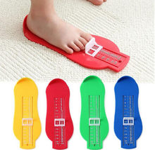 Feet Measuring Ruler Subscript Measuring kids Feet Gauge Shoes Length Growing Foot Fitting Ruler Tool height meter measuring(China)