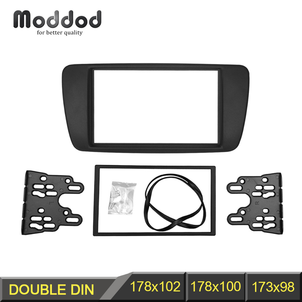 Doppelte Din Audio-Blende für Seat Ibiza 2008+ Radio GPS Stereo CD Panel Panel Mount Installation DVD Trim Kit Rahmen
