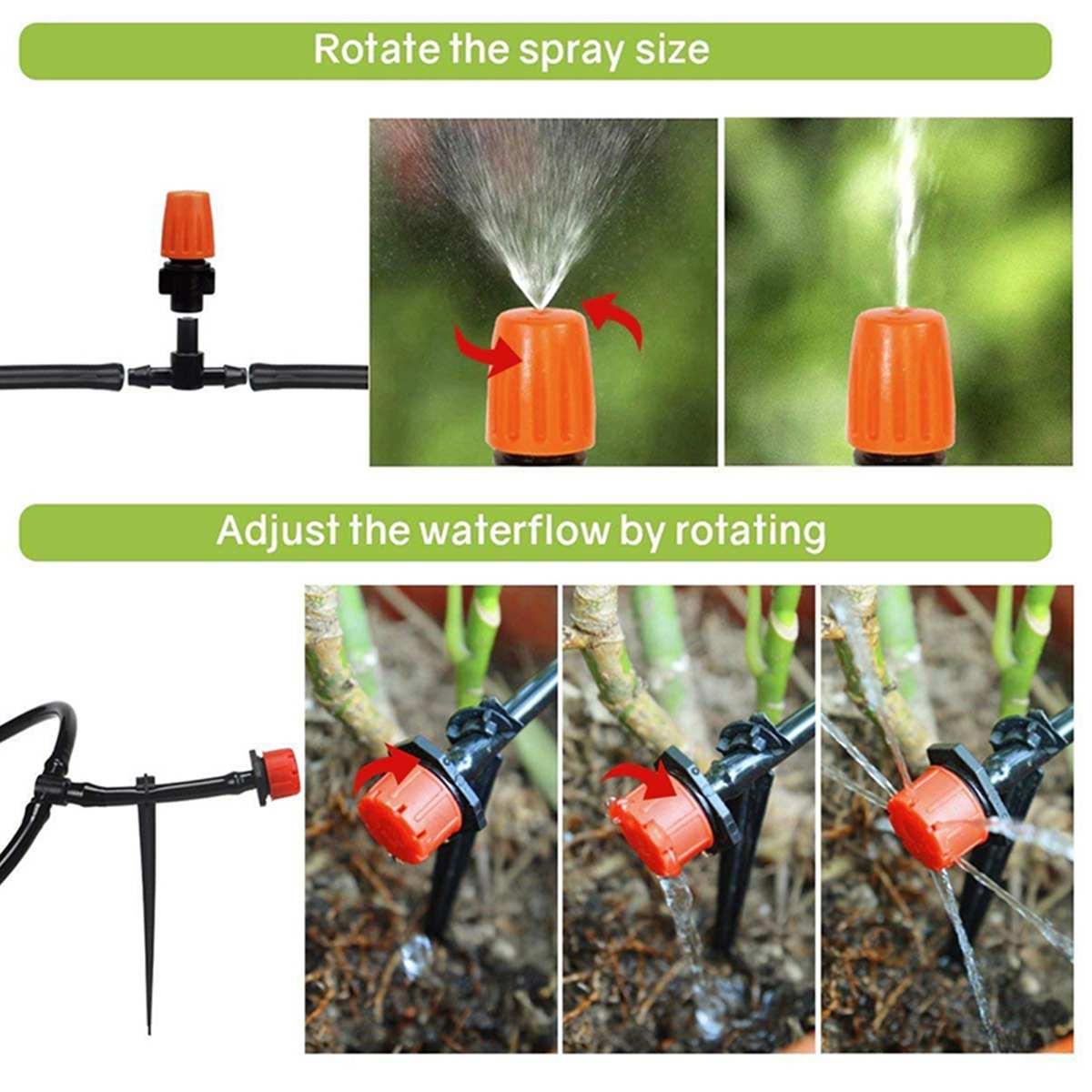 Mangueira + bicos 10m-40m, sistema de irrigação,