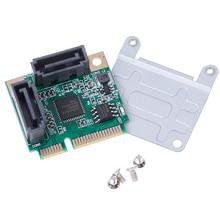 Mini PCI-E PCI express to SATA 3.0 converter hard drive extension card 2 ports