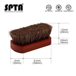 Image 4 - SPTA فرشاة تنظيف السيارة الداخلية ، شعيرات ، مقبض خشبي ، أدوات تنظيف جلدية ، تنجيد تلقائي