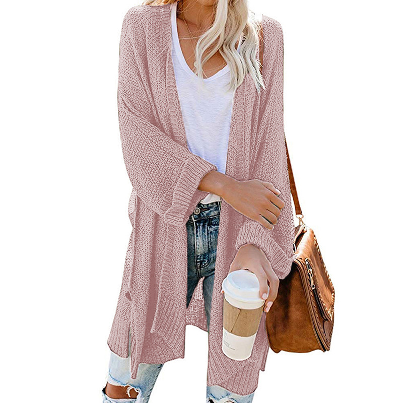 2xl Roll Sleeve Knitted Long Cardigan Women For Autumn 2019 Black Ladies Fall Cardigans Women Jumpers Sweater Women For Winter 5