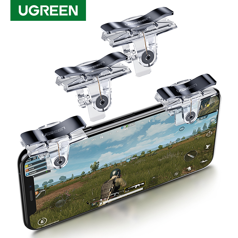 Ugreen PUBG Joystick Controller Triggers For IPhone Celular Joypad Gamepad Android Fire Aim Mobile Phone Triger Controller PUBG