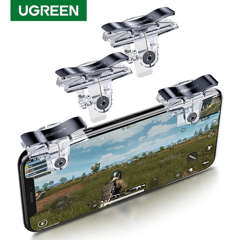Ugreen PUBG Joystick Controller Triggers For IPhone Celular Joypad Gamepad Android Fire Aim Mobile Phone Triger Controller PUBG