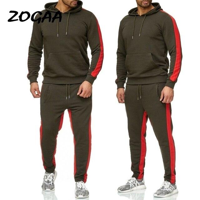 ZOGAA 2019 Men Jogging Hoodie Sweatpants Set Casual Male Pullover Sweat Hoodie + Pants Sports Men's Tracksuit 3