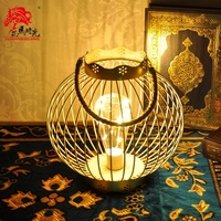 American LED Electronic Candle Holders Iron Lantern Candlestick Modern Simple Table Centerpiece Home Decoration Christmas FC042