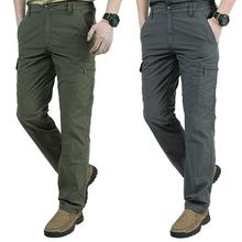 New High-quality Work Cargo Pants Men's Quick-drying Loose Comfortable Trousers Light Weight Hiking Outdoor Multi-pocket Overall недорого