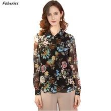 100% Natural Silk Shirt Women Fall 2019 New Long Sleeve Buttoned Cardigan Elegant Chiffon Crepe Real Silk Blouses Office Wear drop shoulder pearl buttoned cardigan