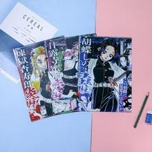 1 pcs Anime Demon Slayer: Kimetsu no Yaiba A4 File Holder Delicate Comic Figures Printed L-shape Document Bag Paper Organizer