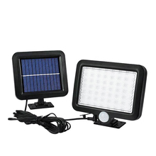 цена на 56 LED Solar Light Waterproof PIR Motion Sensor Wall Lamp Outdoor Garden Parks Security Emergency Street Solar Garden spot Light
