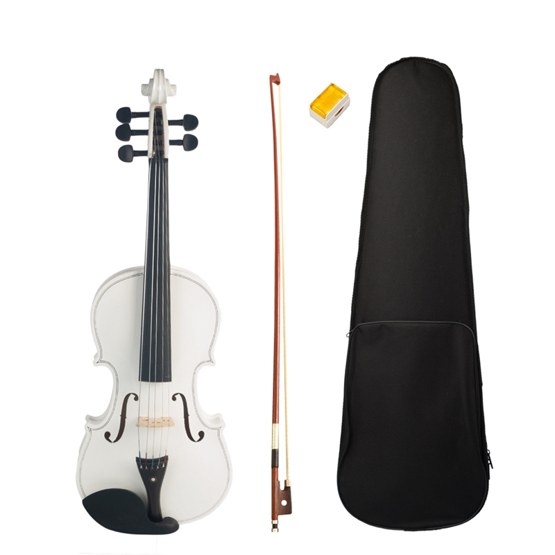 4/4 Full Size Violin 5 String White Acoustic Violin Maple Ebony High Quality Violin