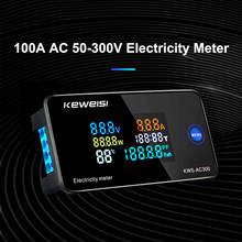 100A AC50-300V Smart Digital Voltmeter Ammeter Power Energy Meter LED Display AC Wattmeter Electric Voltage Current Meter