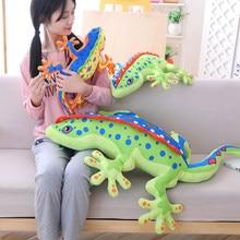 3D Gecko Plüsch Spielzeug Weichen Gefüllt Plüsch Tier Chameleon Lizard Puppe Kissen Kissen Kid Junge Mädchen Geschenk WJ302