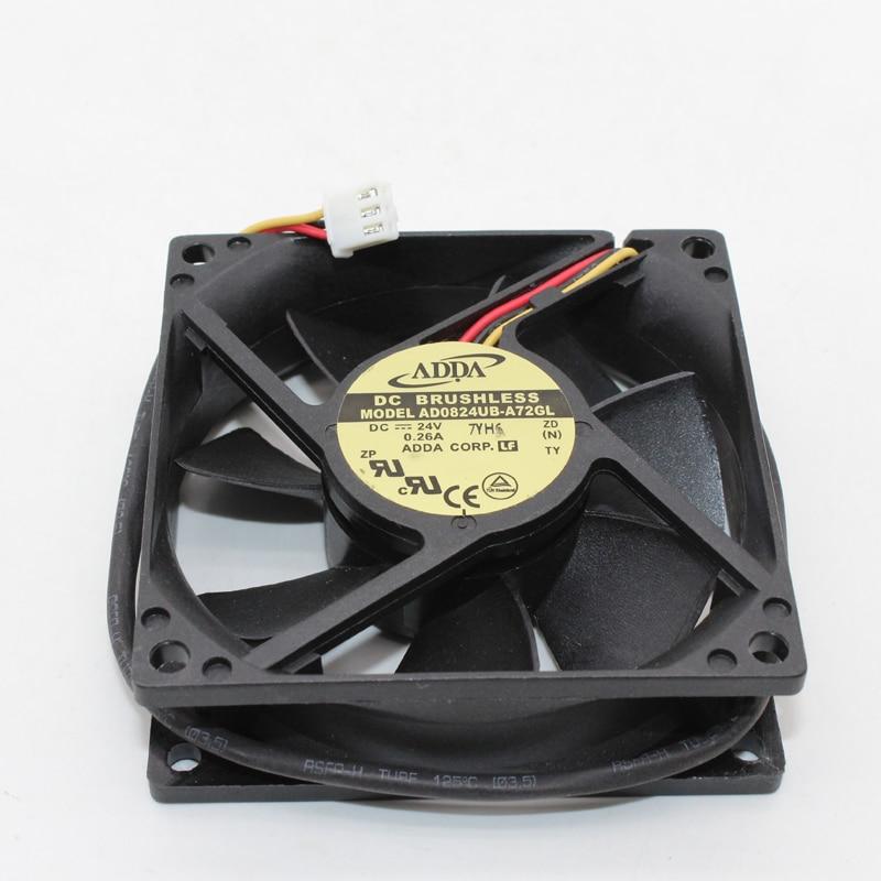 AD0824UB-A70GL ADDA 8025 24V 0.29A 8cm Large Air Volume Double Ball Inverter Fan