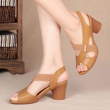 Fish mouth sandals female heels PU leather heels womens mules 2020 trendy slip on cross tied slides raw trim criss cross pu sandals