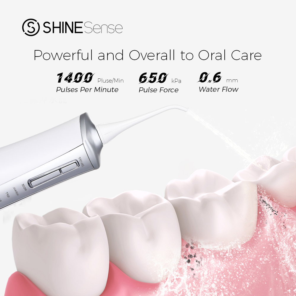 ShineSense SIO200 Oral Irrigator Dental Water Flosser Jet Teeth Whiteing Cleaner Waterproof with Travel bag for waterpik xiaomi