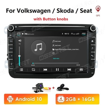 Android 10 GPS 2 Din Car Autoradio Radio Car Multimedia player For VW/Volkswagen/Golf/Polo/Passat/b7/b6/SEAT/leon/Skoda 4G WIFI image