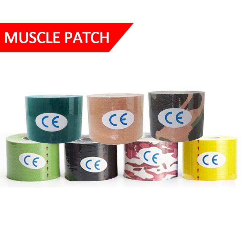 5M Kinesiology Tape Sport Recovery Tape Athletic Recovery Kneepad Gym Fitness Tennis Running Elbow Knee Pad Muscle Protector Tap