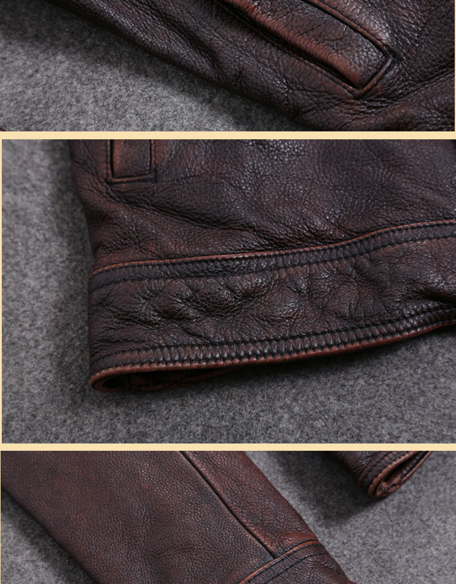 H60c296fe45e64c728e44e9603b822807l AYUNSUE Vintage Genuine Cow Leather Jacket Men Plus Size Cowhide Leather Coat Slim Short Jacket Veste Cuir Homme L-Z-14 YY1366