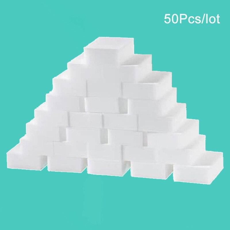 50 шт./лот волшебная губка, многофункциональная меламиновая губка для чистки кухни, ванной, чистящие аксессуары 100*60*20 мм