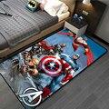 Дверной коврик Avenges с изображением супергероев команды Marvel, коврик Капитан Америка, Человек-паук, ковер, напольный коврик для спальни, неско...