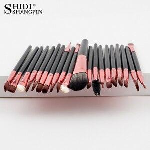 Image 1 - 20PCSMakeup Brushes Luxury Champagne For Foundation Powder Blush Eyeshadow Concealer Lip Eye Makeup Brush Cosmetics Beauty Tools