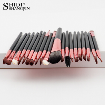 20PCSMakeup Brushes Luxury Champagne For Foundation Powder Blush Eyeshadow Concealer Lip Eye Makeup Brush Cosmetics Beauty Tools