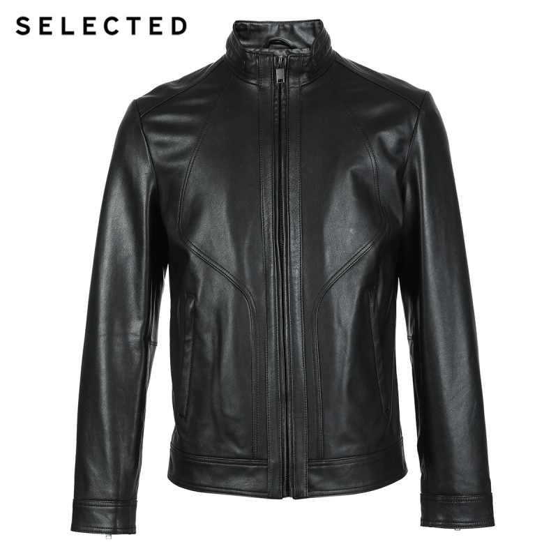 選択新メンズ革のジャケットの服ゴートスキンビジネスカジュアルスタンドカラーの本革コート S | 418310515
